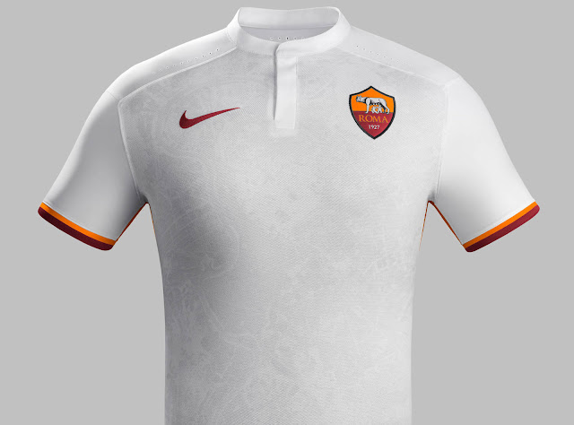 Nike always seem to produce top notch designs for italian side AS Roma and  they produced a gem in white away kit which features red yellow application  a ... 2c0b56c26