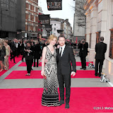 WWW.ENTSIMAGES.COM -   James McAvoy and Anne Marie Duff    at      The Olivier Awards at Royal Opera House, Covent Garden, London, April 28th 2013                                               Photo Mobis Photos/OIC 0203 174 1069