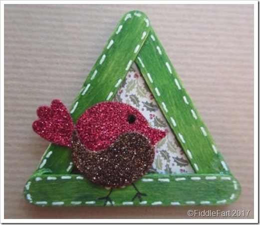 Robin CRaft Stick Christmas Tree Decoration b