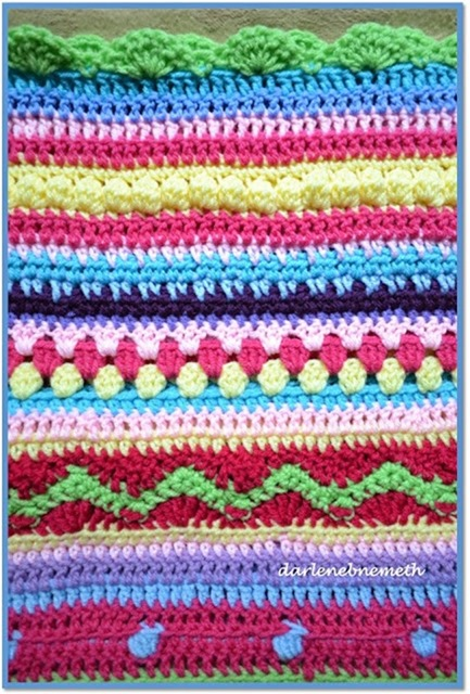 Crocheted Stitch Sampler Blanket 2