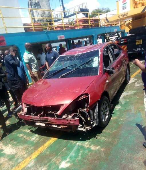 #LikoniFerry  - 46 years John Mutinda and his car retrieved from Likoni ferry
