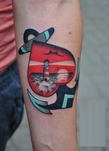 Interior do antebraco coracao desenhos de tatuagens de ancoras olhar fresco