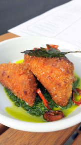 From the Bites section of the Renata menu was this perfect Crispy Trotters with Salmoriglio and Calabrian chili