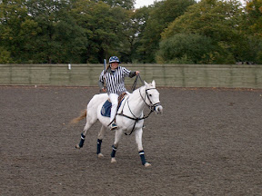 Pippa Grace on a polo pony