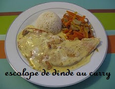Escalope de dinde au curry