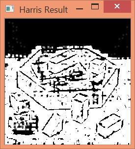 Resultado de aplicar el método Harris Corner Detection