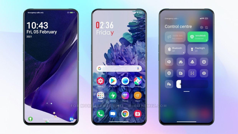 Samsung Galaxy s21 Inspired MIUI Theme