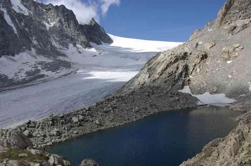 Le glacier d'Orny d'où nous venons