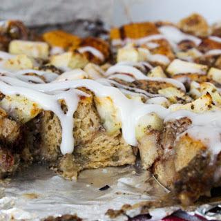 Cinnamon Roll Bread Pudding [Vegan]