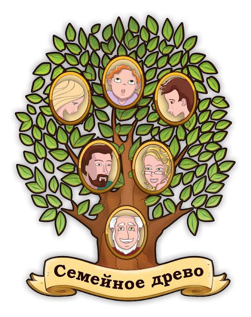 """Познавательно-развивающая настольная игра """"Семейное древо"""""""