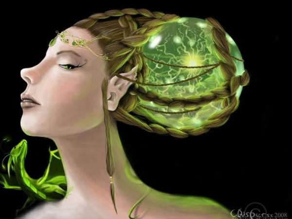 Elven Goddess Of Green Tree, Fairies 4