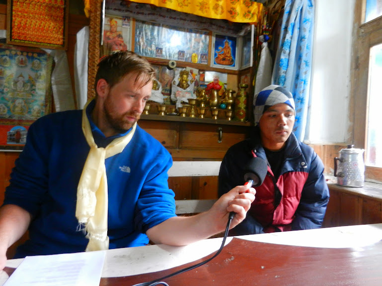 A Gyalsumdo Man Being Interviewed and Recorded