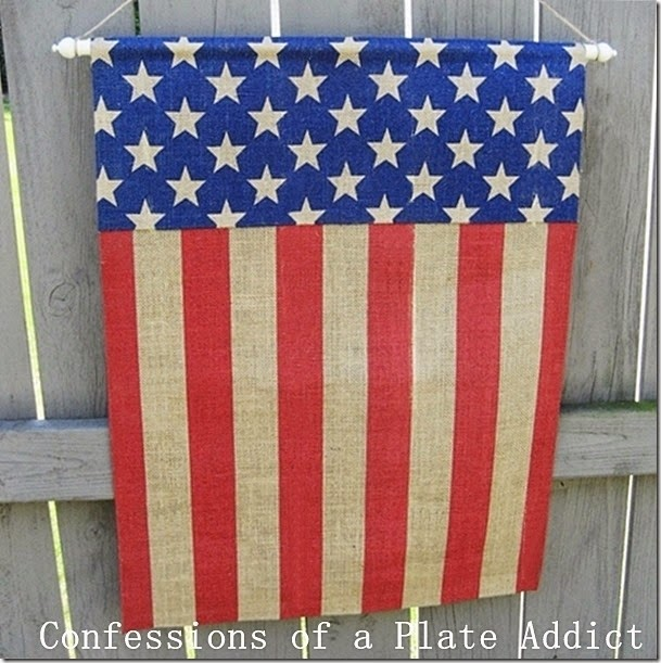 CONFESSIONS OF A PLATE ADDICT  No-Sew Pottery Barn Inspired Patriotic Banner