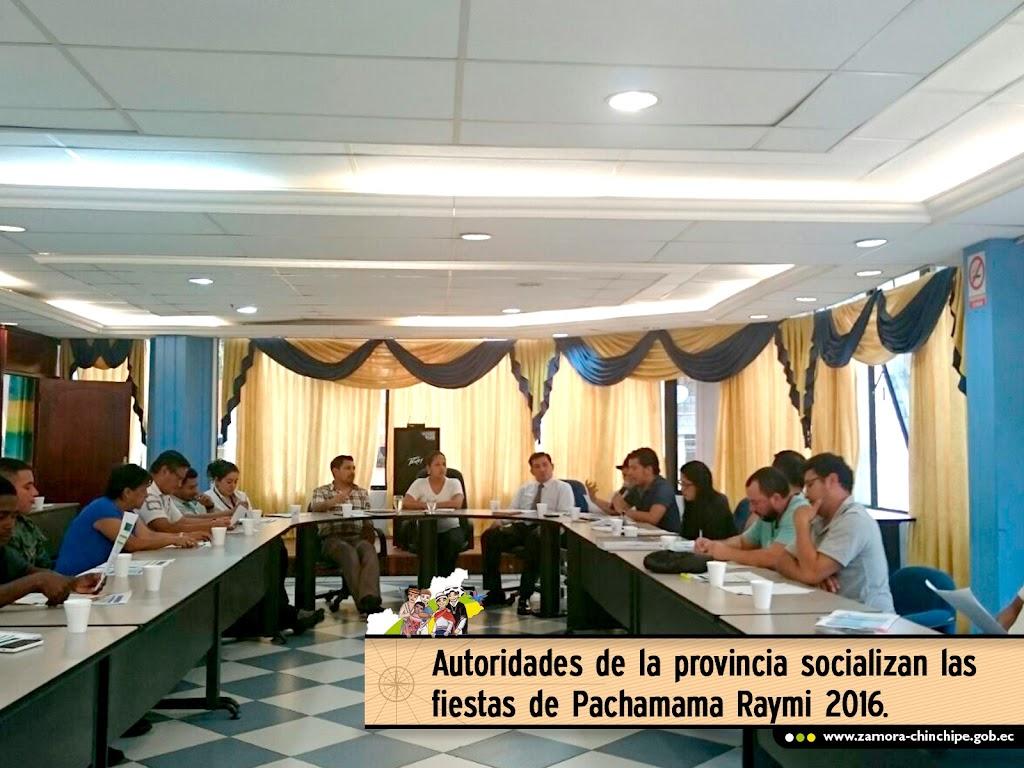 AUTORIDADES DE LA PROVINCIA SOCIALIZAN LAS FIESTAS DE PACHAMAMA RAYMI 2016