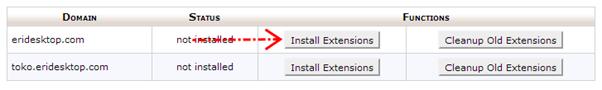 Klik tombol Install Extensions