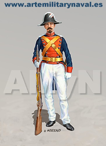 Guardia Civil. Gala verano 1844