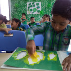 GREEN COLOUR DAY & FRIENDSHIP DAY (JR. KG) WITTY WORLD 05, AUG, 2016