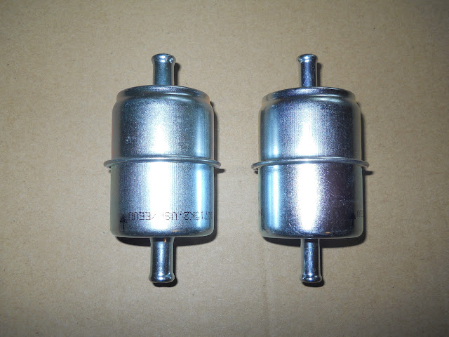 """Fuel filters FF-2 3/8"""" 7.00 and FF-1 5/16""""  6.00.. . FF-1 used on most Buick's these have smaller OD case than original filters.. We do have a NOS fuel filters with correct size body.. call"""
