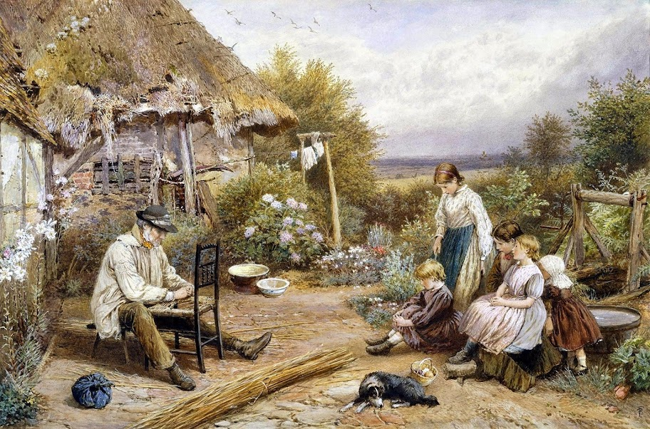 Myles Birket Foster - The Old Chairmender