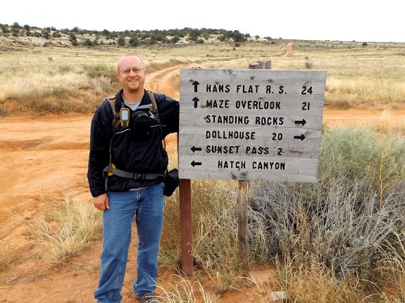 Road junction at Waterhole Flat (photo by Lyman Forsythe)
