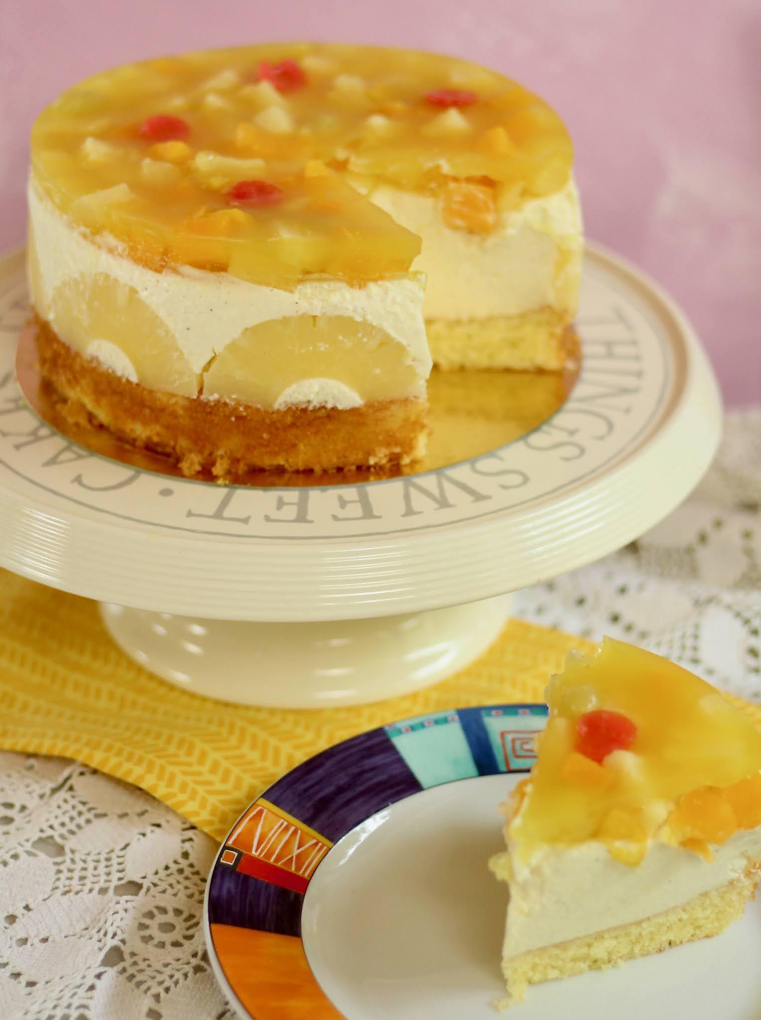 🍍Fruchtige Ananas-Hawaii-Torte mit dem BESTEN Obstboden, den ich kenne! 🍍| Rezept und Video von Sugarprincess