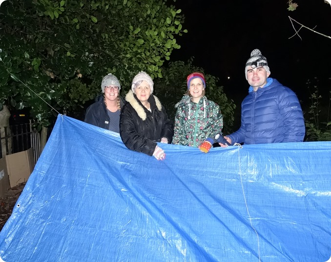 Social Workers from Cheshire East build a shelter (2)