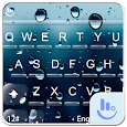 Water Screen Droplets Keyboard Theme