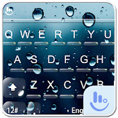 Water Screen Droplets Keyboard Theme