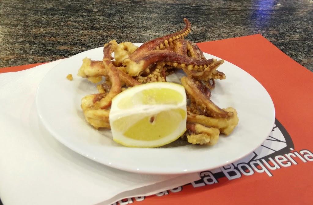 Fried Octupus Tentacles at Mercat de la Boqueria, Barcelona