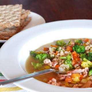 Robust Chicken Barley Soup
