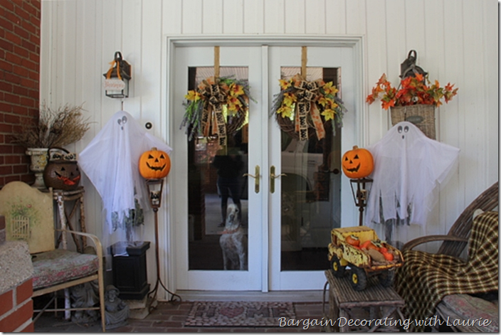 Halloween Decor at Back Door