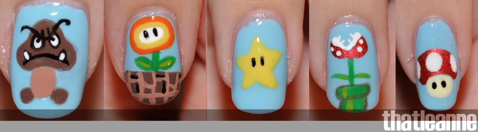 thatleanne: Mario Bros. Nail Art!