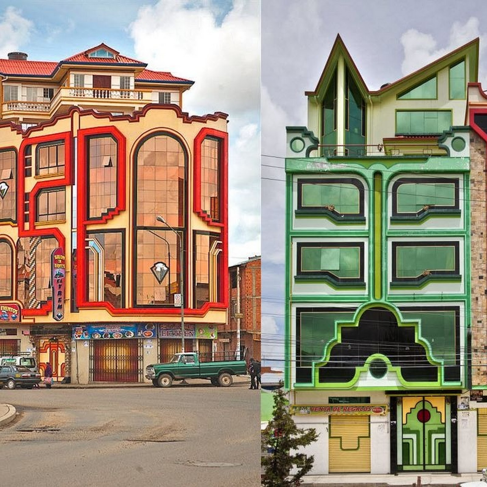 The Colorful Mansions of El Alto