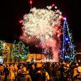Новый год на площади Победы. Праздничный салют