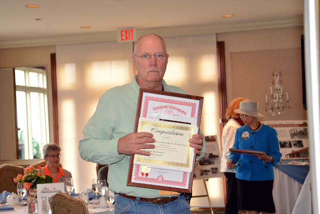 Ron Gay accepted the Motor Cities National Heritage Area- Wayside Exhibit Signs Community Achievement Award, 2014