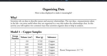 Lab Safety Organizing Data Pogil