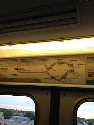 エアトレインの路線図
