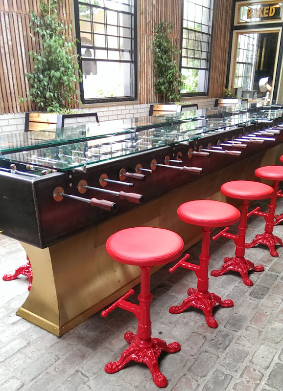photo of the foosball dining area