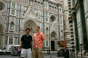With Frank outside the Duomo, Florence