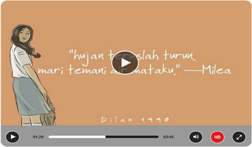 Quotes Novel Dilan Bikin Baper for PC