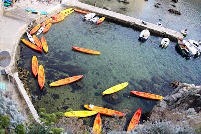 Kayaks in Dubrovnik Croatia