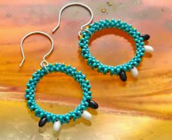 Amarna Beadwork Earrings from Ancient Worlds Modern Beads