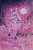 purple Totoro Bright clear night
