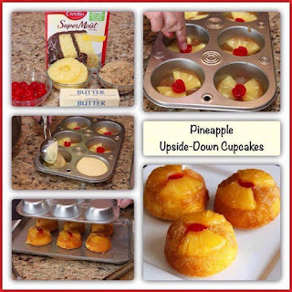 Pineapple Upside-Down Cupcakes Recipe