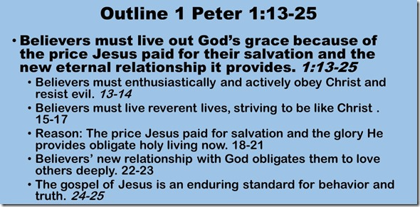 Outline 1 Peter 1.13-25