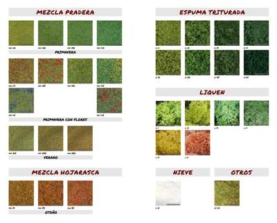 Carta de colores: Mezclas y Otros Materiales