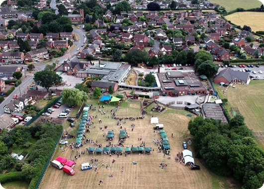 Aerial view of Fete and surrounding land