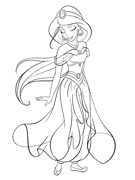 Photo Of Walt Disney Coloring Pages  Princess Jasmine For Fans Of Walt  Disney Characters