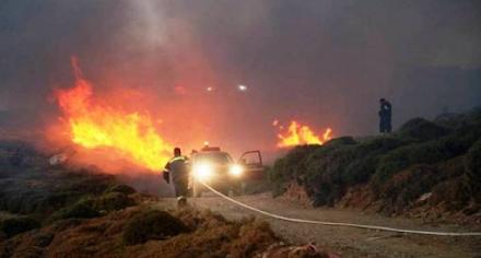 Μεγάλη πυρκαγιά στην Άνδρο