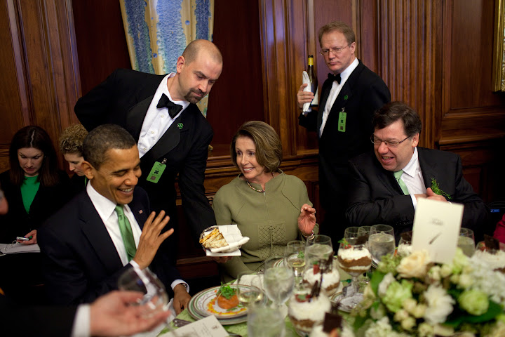 Obama uses St. Patrick's Day lunch to condemn Trump
